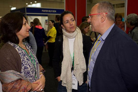 Avec ramón aiguadé et béatriz martinez prof physiothérapeute à l'université de Madrid