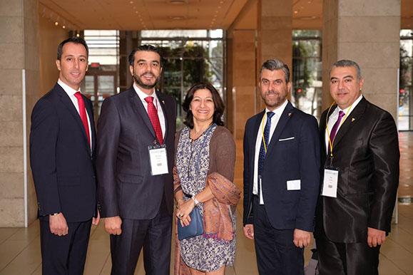 Pascale Mathieu et la délégation libanaise au congrès de la WCPT