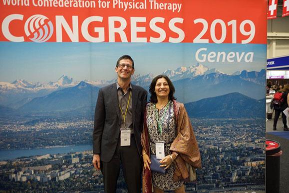 Avec Roland Paillex président de physipswiss organisateur du congrès de la WCPT en 2019 à Genève