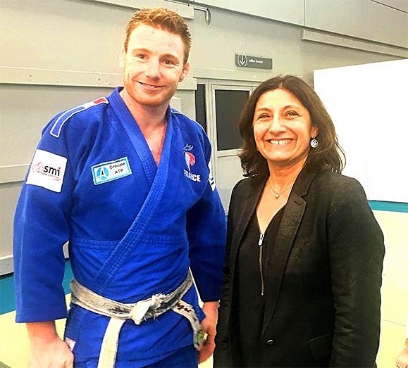 Axel Clerget, kinésithérapeute et judoka, n°2 mondial est venu sur le stand de l'Ordre évoquer les liens qui existent entre la kinésithérapie et le sport