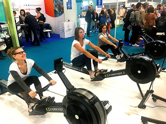 Noémie Kober, membre de l'équipe de France d'aviron (au centre) est venue apporter son concours au challenge contre le cancer