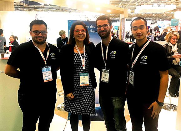 Annaïg Le Meur, députée du Finistère (LREM) et kinésithérapeute est venue sur le stand de l'Ordre où elle a, notamment, rencontré les représentants de la FNEK
