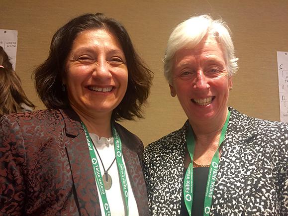 Rencontre avec Esther-Mary d'Arcy, physiothérapeute pendant le groupe de travail sur l'éducation.