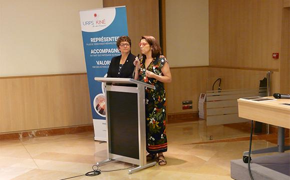 Carole Bureau-Bonnard, vice-présidente de l'Assemblée nationale (à gauche) et Annaïg Le Meur, députée