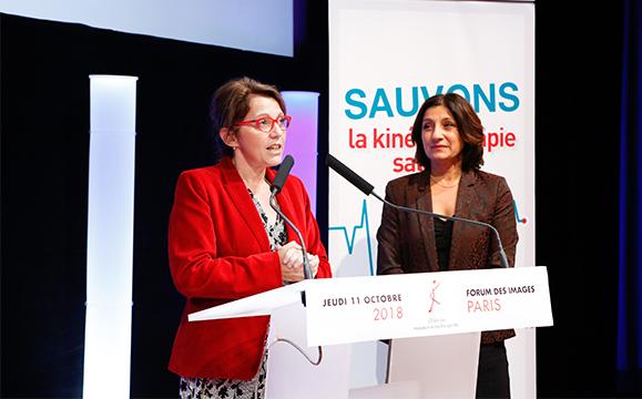 Annaïg Le Meur, députée, est venue, aux côtés de Pascale Mathieu adresser un message d'espoir et de combat aux participants